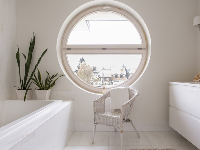 45 ideas for bathroom windows 2020 (for different designs) 14