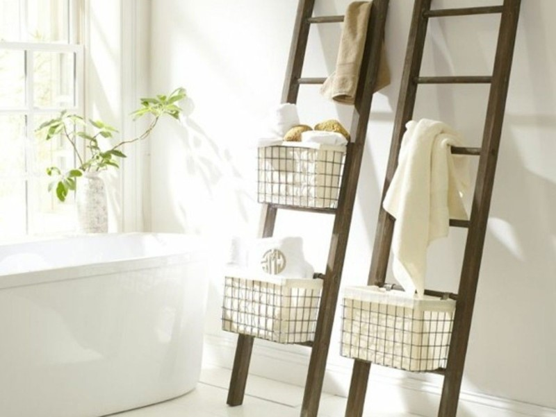 45 ideas for a bathroom in the farmhouse 2020 (with natural accents) 6