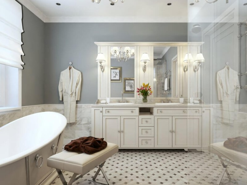 45 ideas for a bathroom in the farmhouse 2020 (with a touch of nature) 11