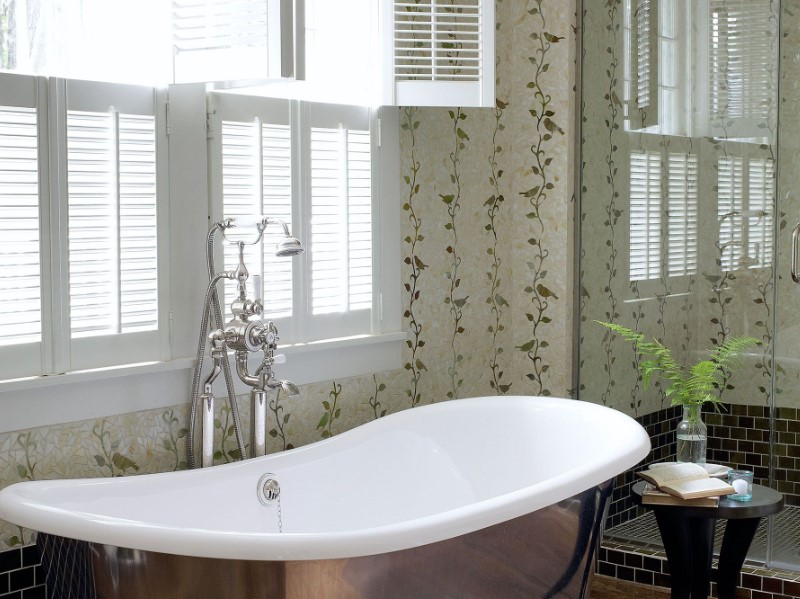 45 ideas for bathroom windows 2020 (for different designs) 4