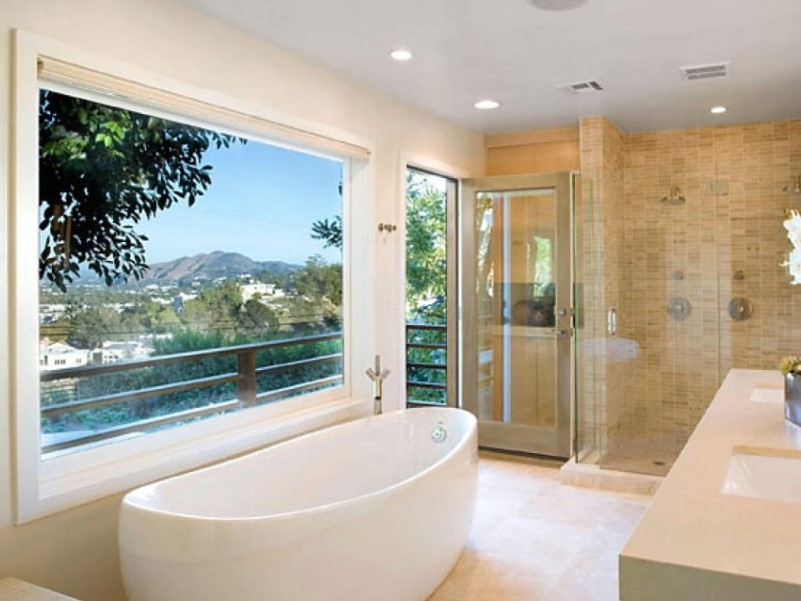 45 ideas for bathroom windows 2020 (for different designs) 5