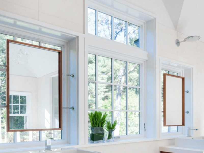 45 ideas for bathroom windows 2020 (for different designs) 13