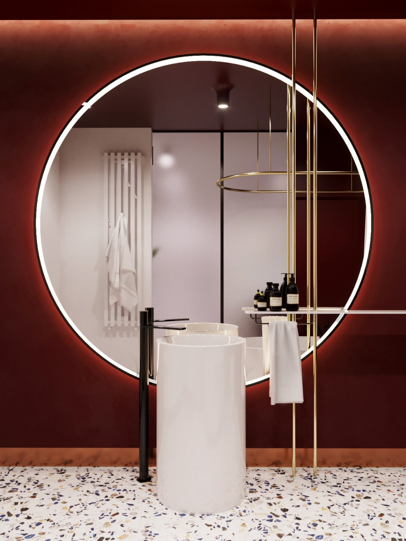 Inspirational Burgundian bathroom