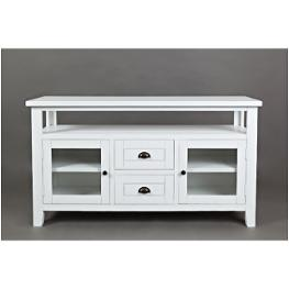 1744-54 Jofran Furniture Artisan Crafts - Weathered White Accent TV Console AWWLYWH