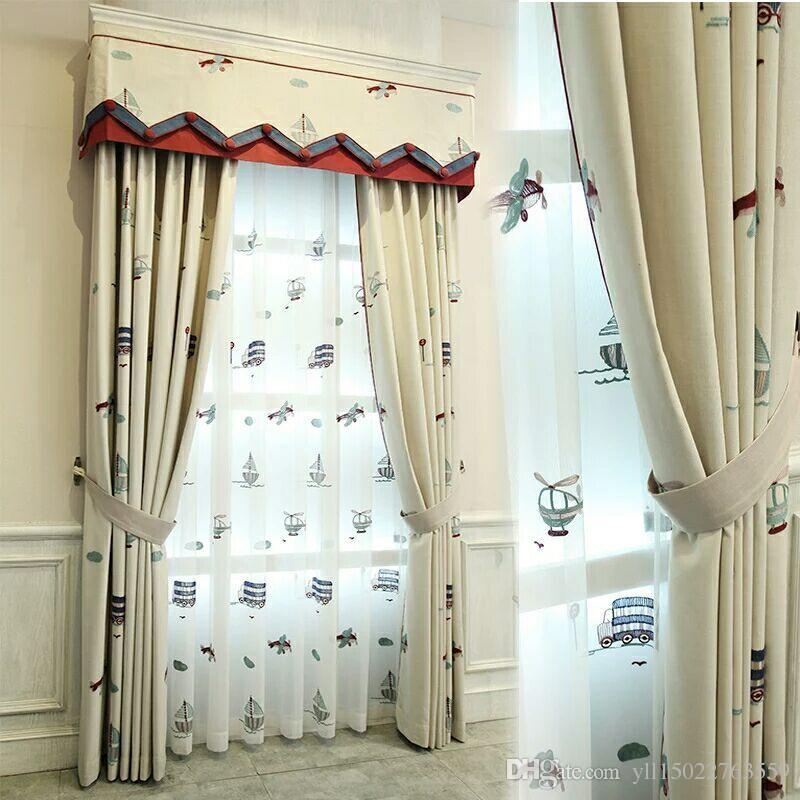 2018 American-style cartoon children curtain shade living room bedroom small TFTEKMZ