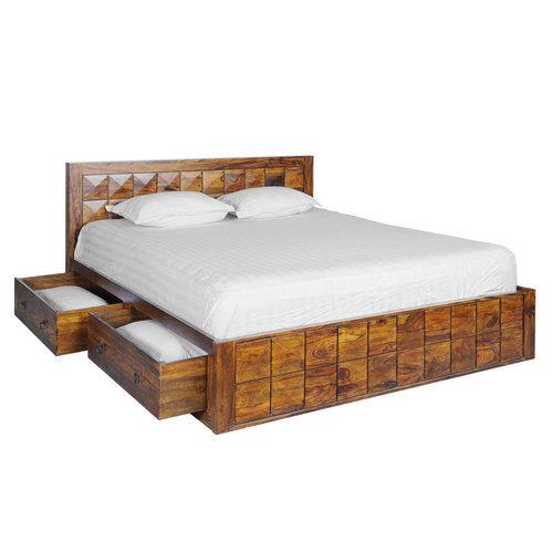 206 x 168 x 90 cm wooden box cot INCVNUY