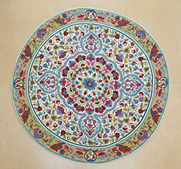 5 ft round, mandala carpet, flower carpets, cool carpets, round carpets OPZIURK