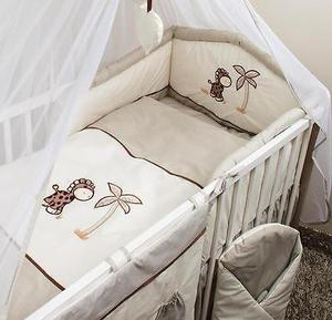 5-piece cot bedding set padded safety bumper 120 or UXYMCAT