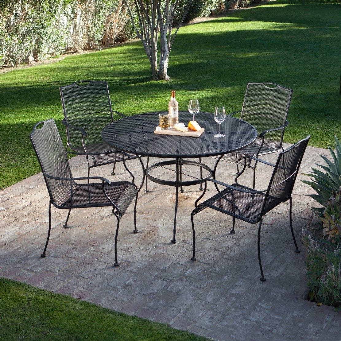 5-piece wrought iron garden furniture set - 4 seats PYSUNSQ