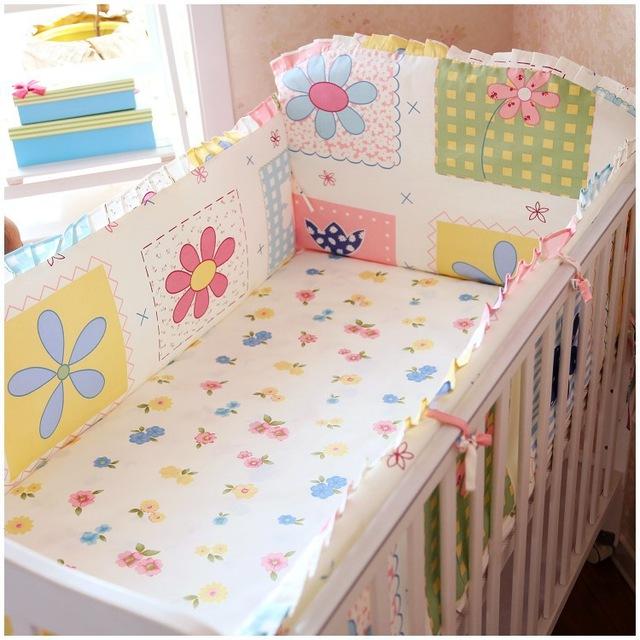 6pcs Baby Crib Bedding Set Newborn Cartoon Crib Bedding Pillow Bumpers Crib OSONLGW