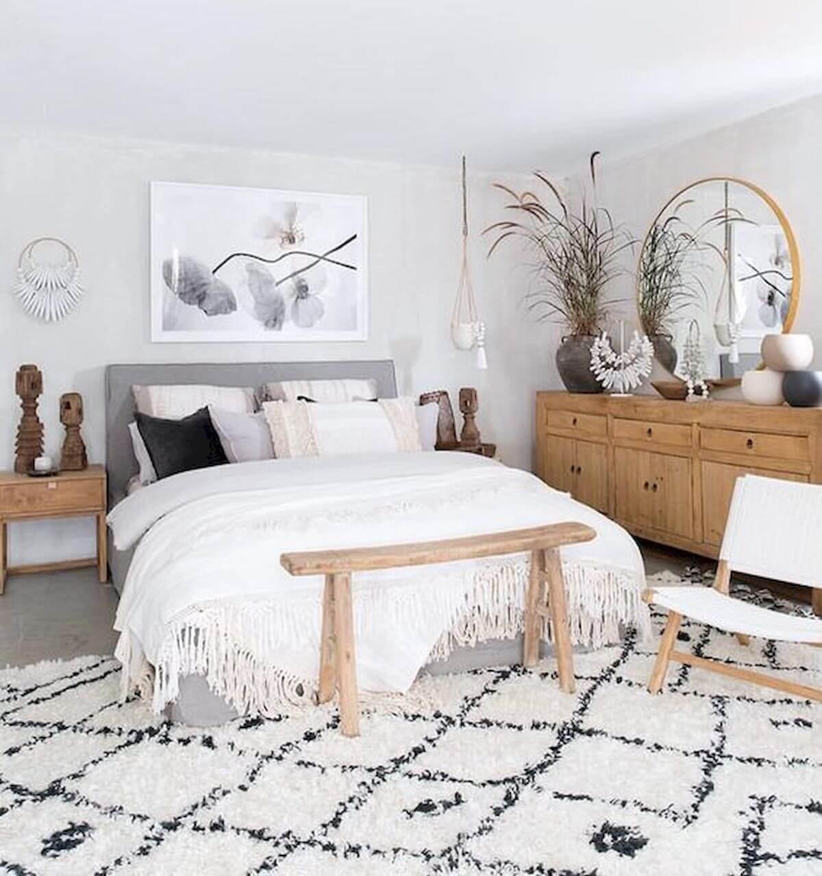 Attractive peasant bedroom