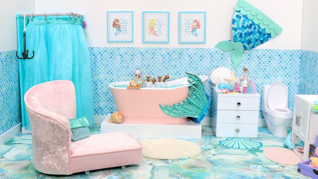 Amazing mermaid bath