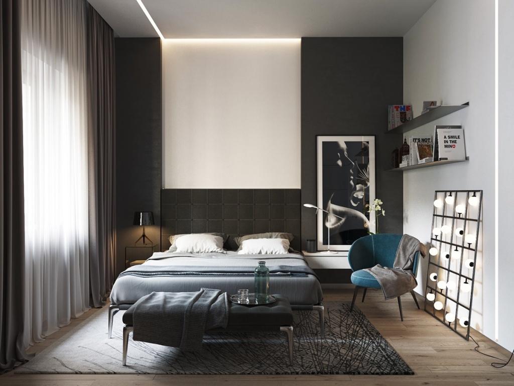 Cool bachelor bedroom
