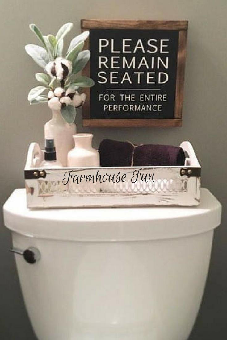 Entertaining bathroom sign