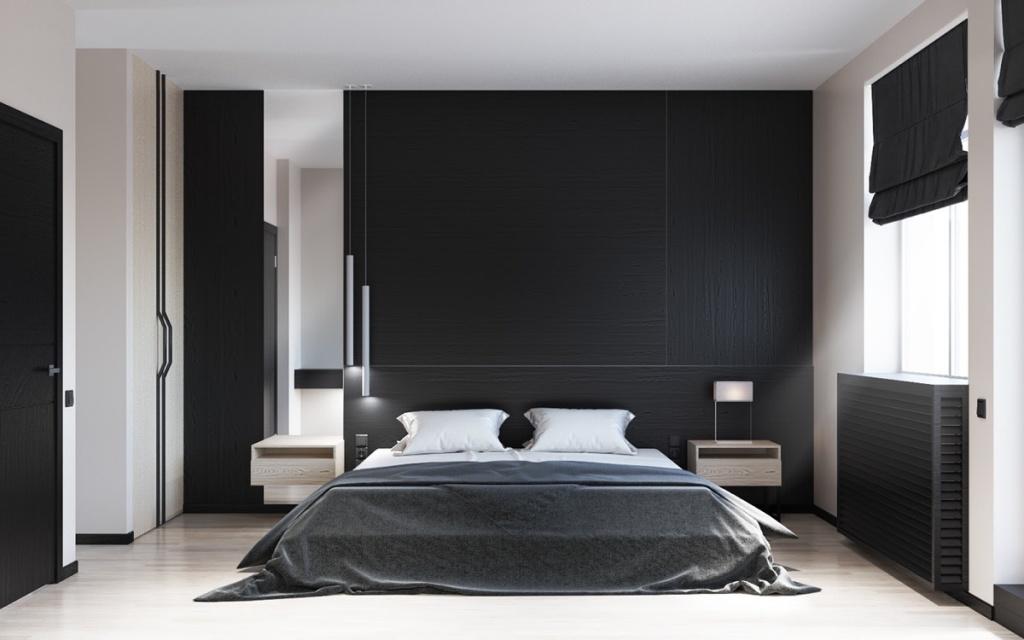 Black bedroom door