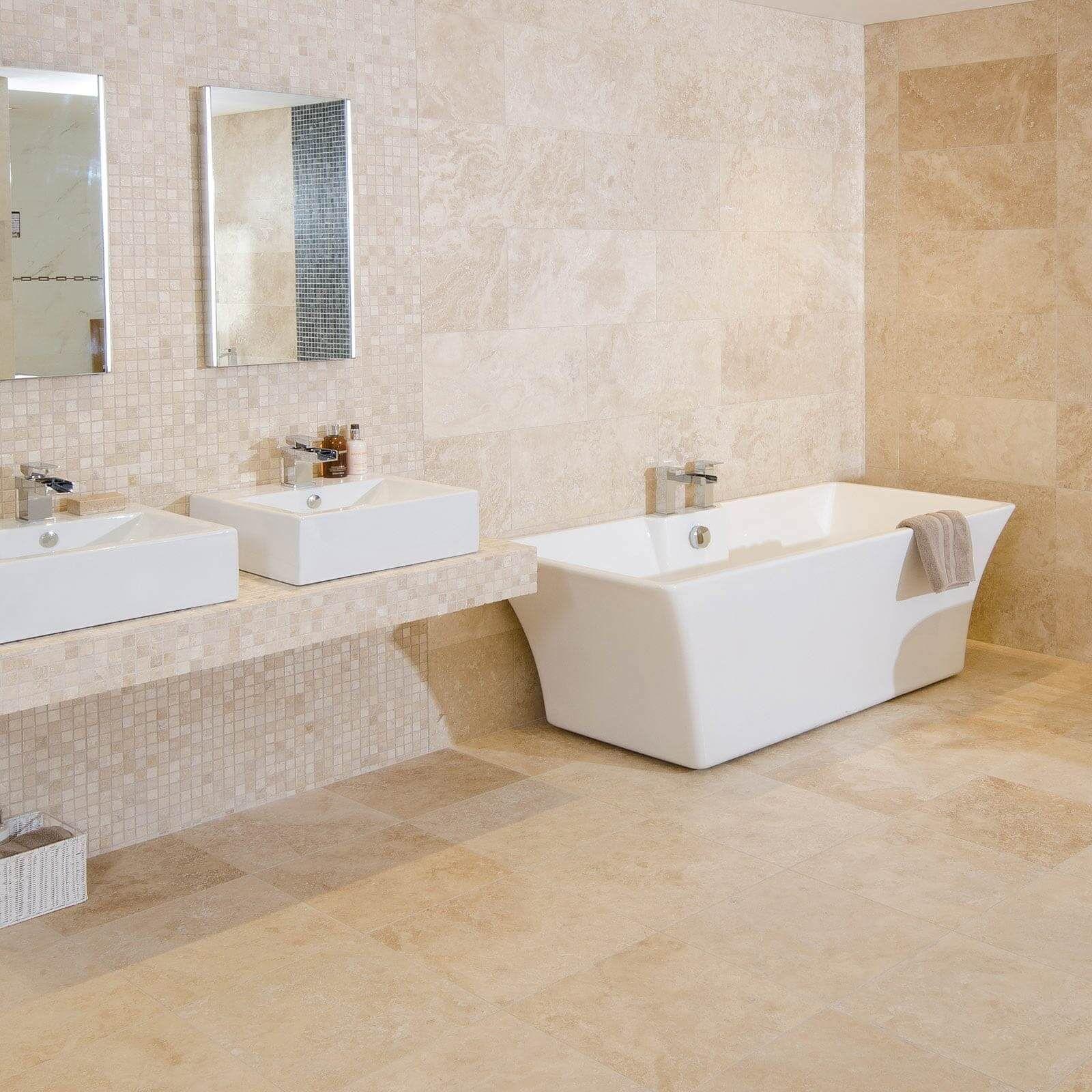 Simple beige bathroom