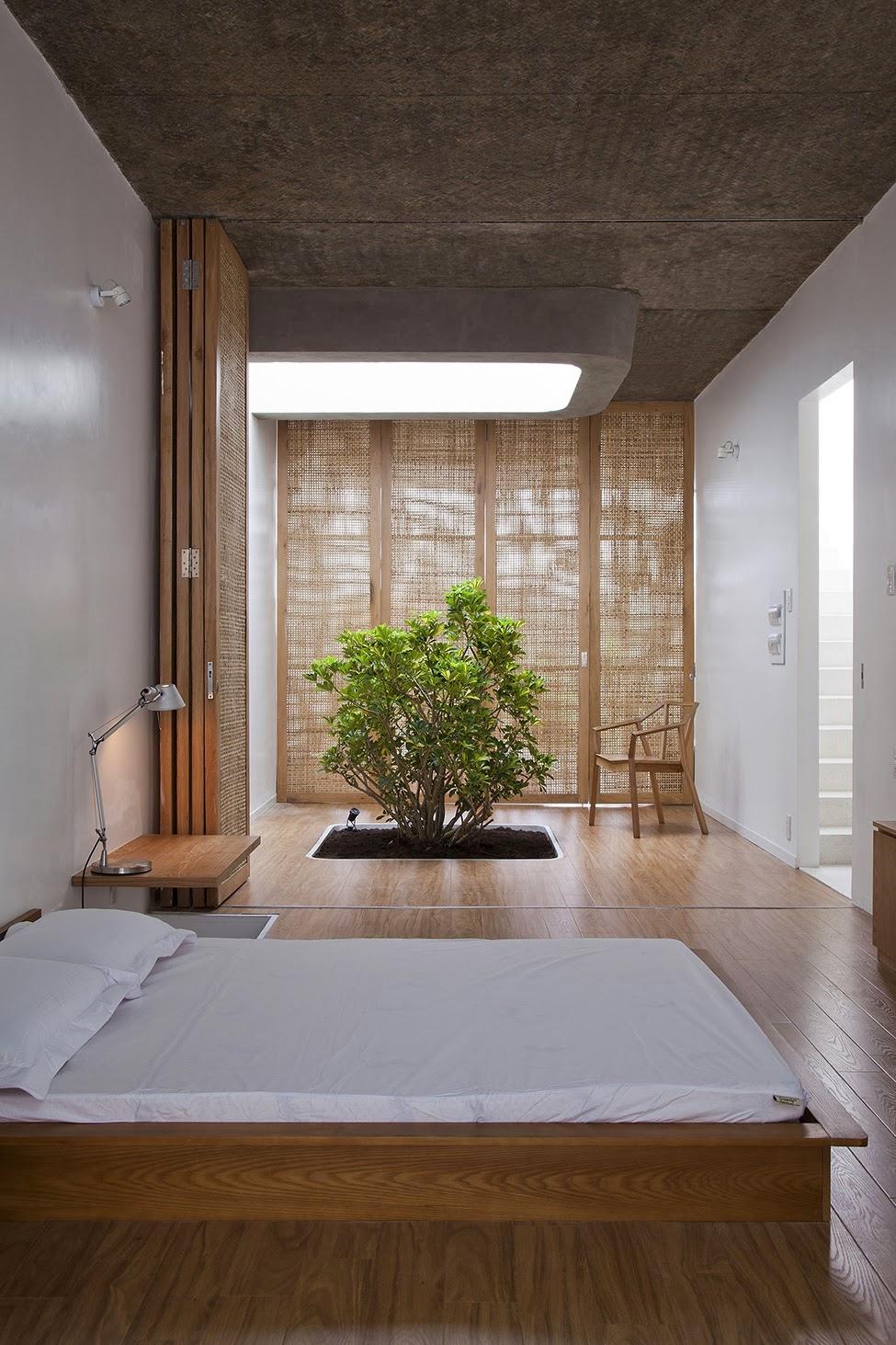 Illuminated zen bedroom
