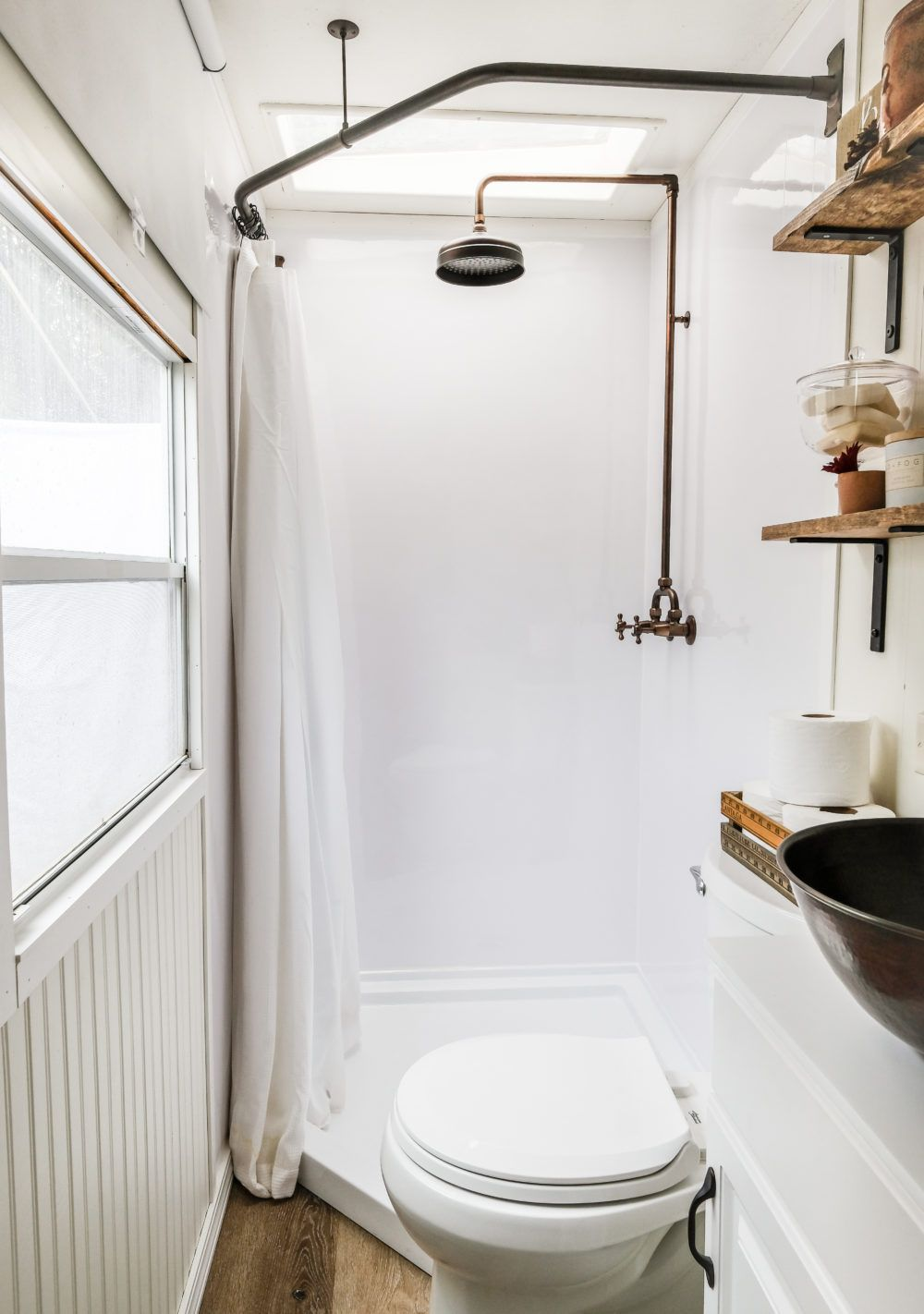 Pleasant mobile home bathroom