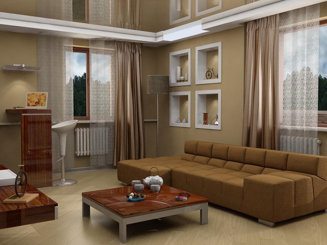Minimalist, informal living room
