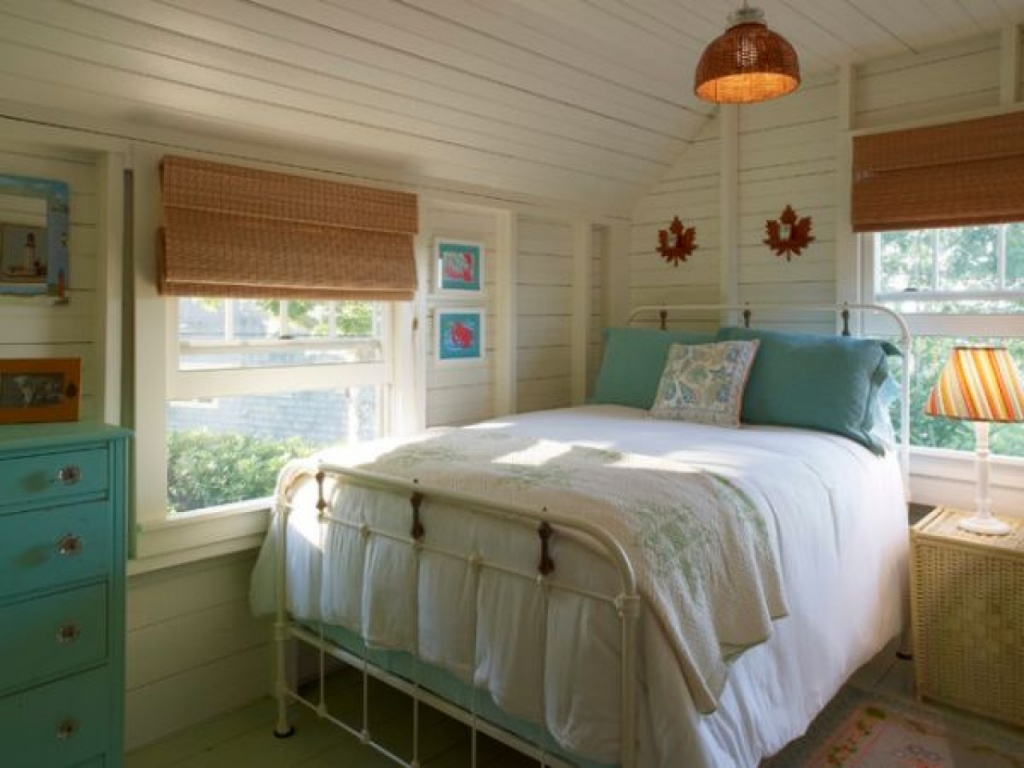 Airy cottage bedroom