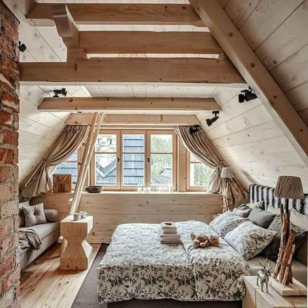 Natural country house bedroom