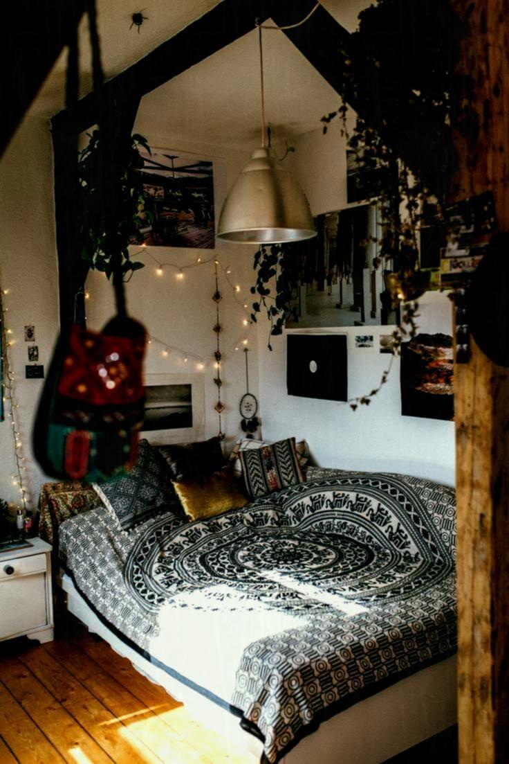 Messy, creative DIY bedroom