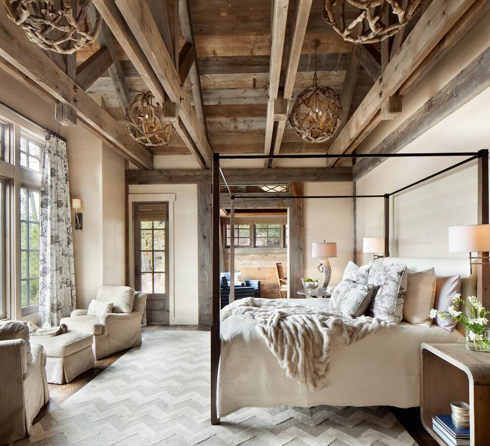 Stunning country house bedroom