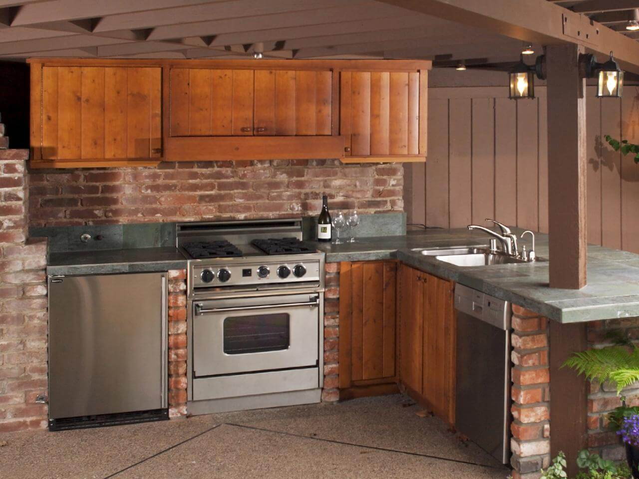 Traditional French country kitchen lighting