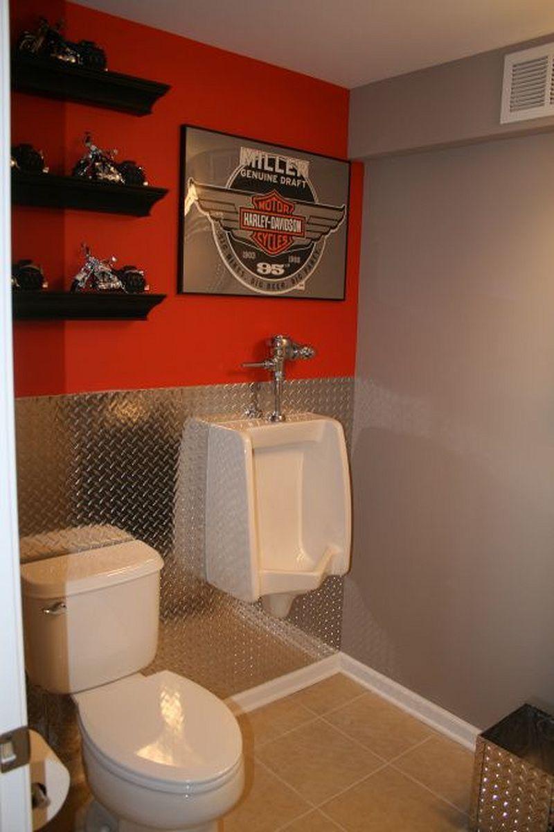 Motorcycle garage bathroom garage