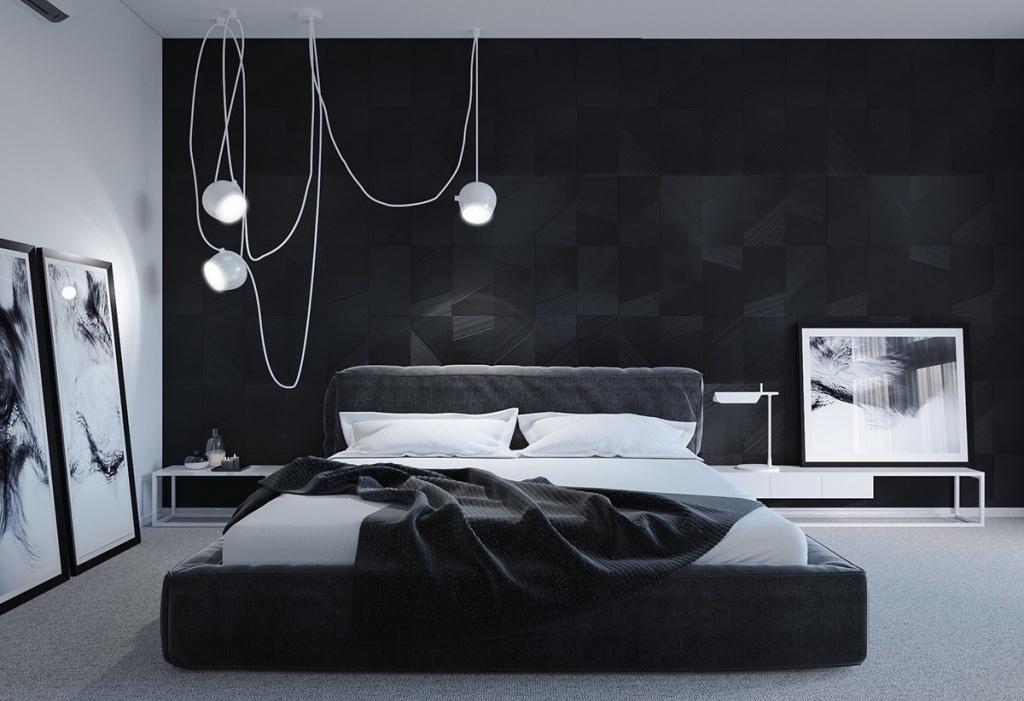Cool dark bedroom