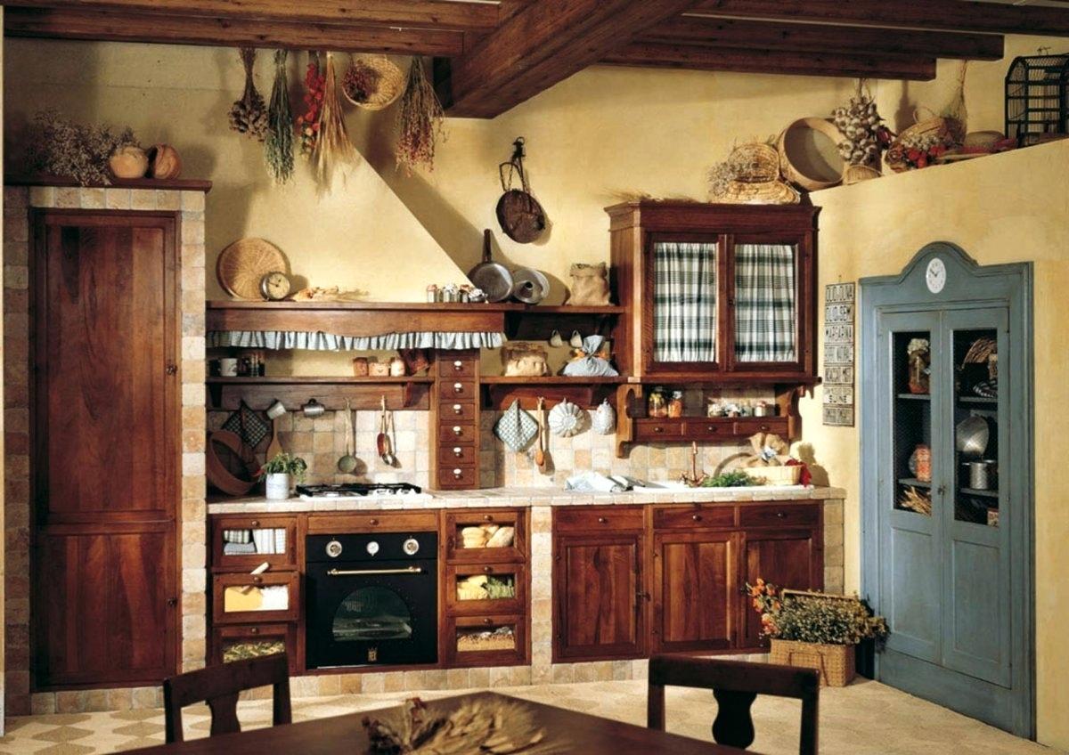 Modest primitive kitchen