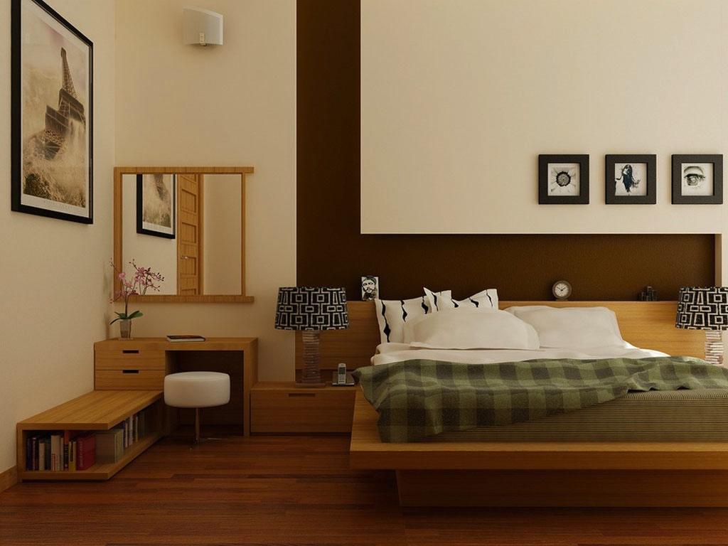 Modest neutral bedroom