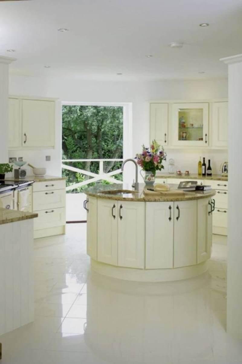 Graceful round kitchen island