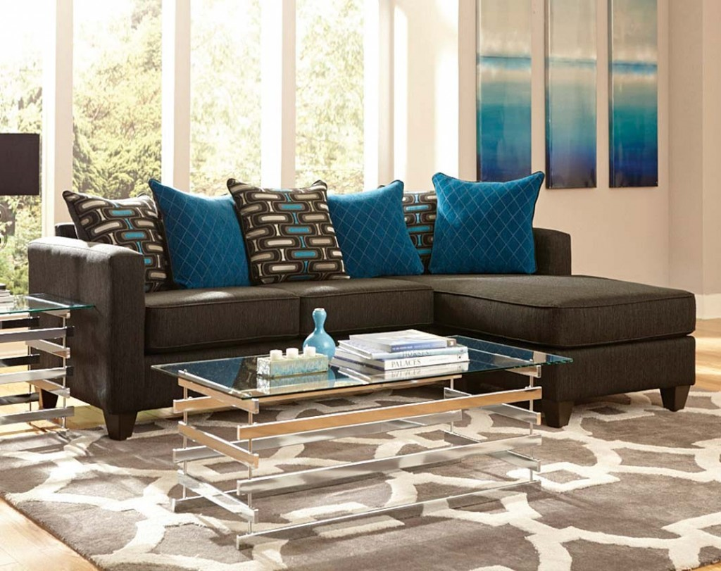 Beautiful turquoise and brown living room ideas