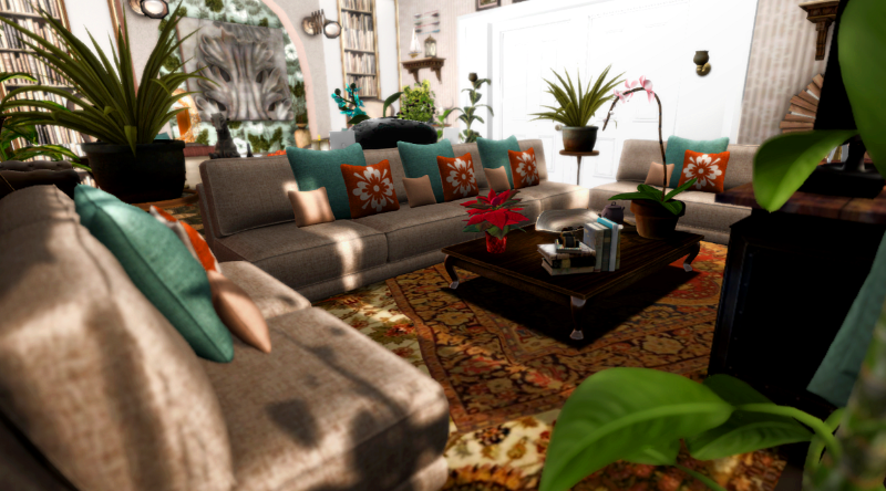 Incredible turquoise and brown living room living