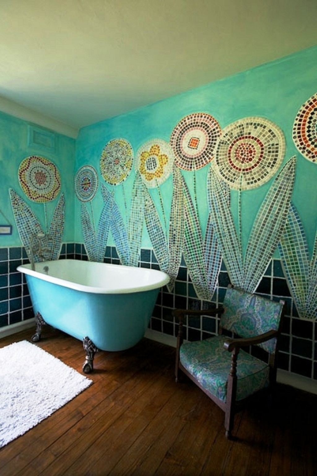 Excellent turquoise bathroom