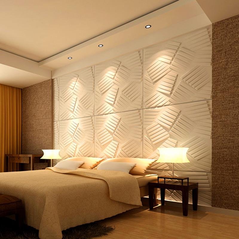a21070 - 3d wall flats decorative wall panels primitive white (set of 3) LRRXYAY