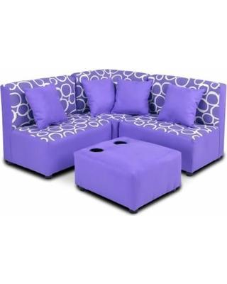 Accent chair: Children's sofa: zipity kids perfect plum cut, purple VTNMXFO