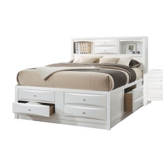 Acme Furniture Ireland white bed with storage space EHXNDAI