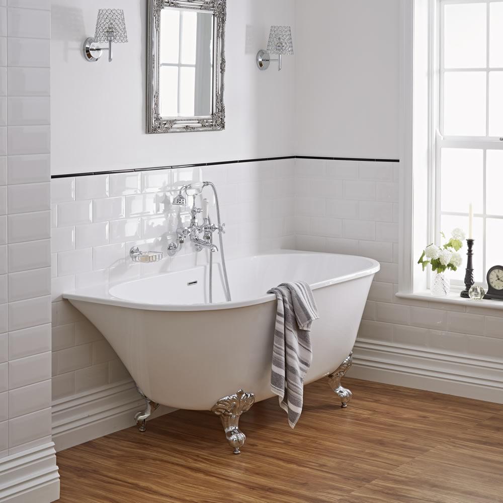 freestanding acrylic bathtub wall-hung 60 WLGSRDD