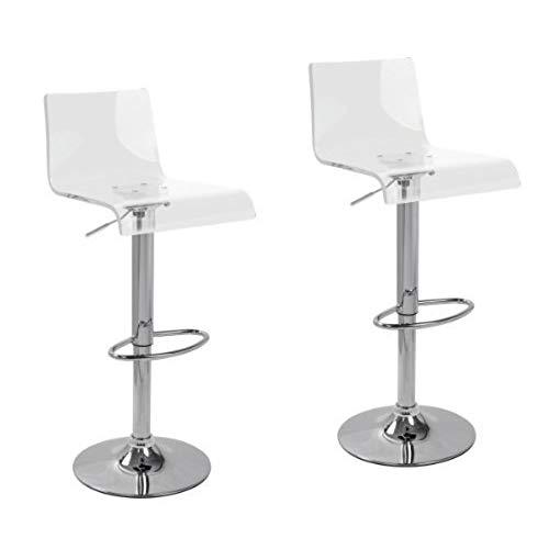 Acrylic bar stool 2 x acrylic hydraulic lift adjustable bar stool dining chair clear VMNKNFR