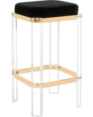 Acrylic bar stool Couture Cicely acrylic bar stool black DBSVJTA