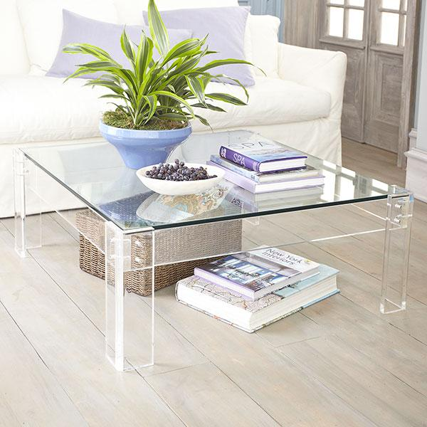 Acrylic cocktail tables Acrylic table with glass - Coffee table - Wisteria TJKKHUP