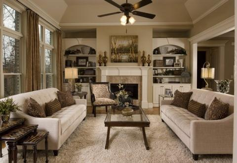 to the transition family room with white wood fireplace paneling TQBWVZM.  Add