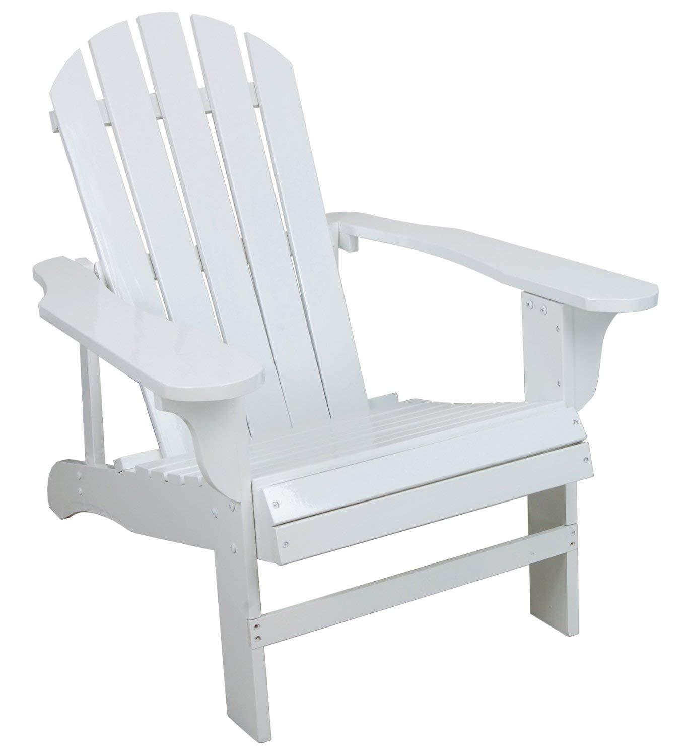 Adirondack chairs amazon.com: classic white lacquered wooden chair Adirondack chair: chaise longues FMXATVK