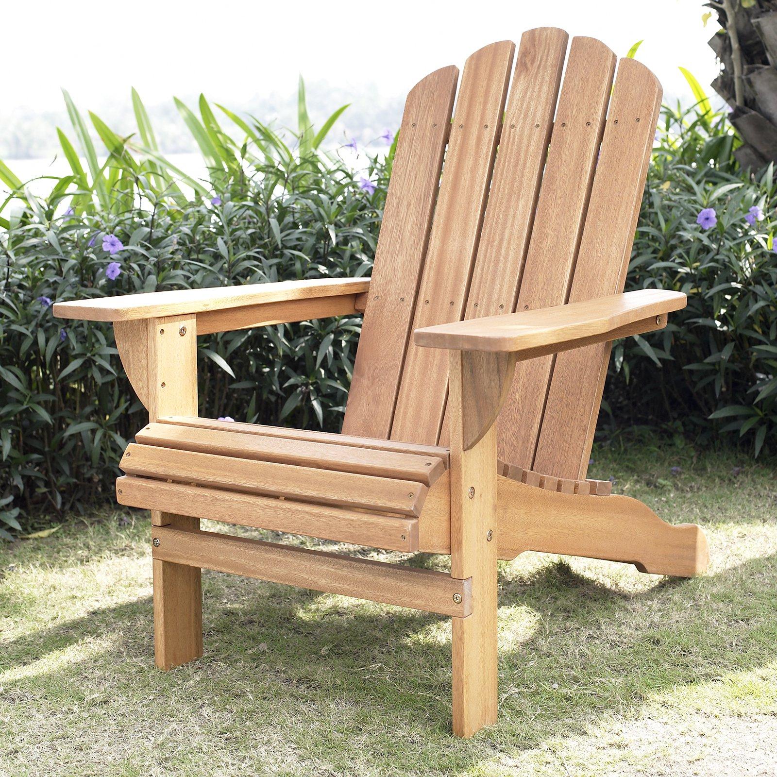 adirondack chairs belham living shoreline adirondack chair - natural - walmart.com WJCMYTT