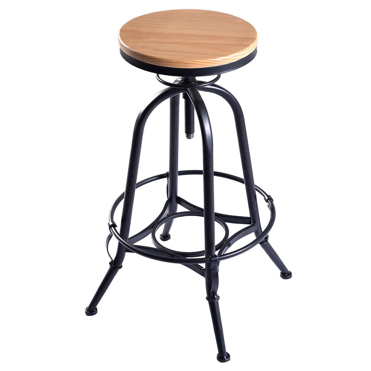 adjustable bar stool vintage adjustable swivel bar stool in industrial metal design - table & bar LTFLIVW