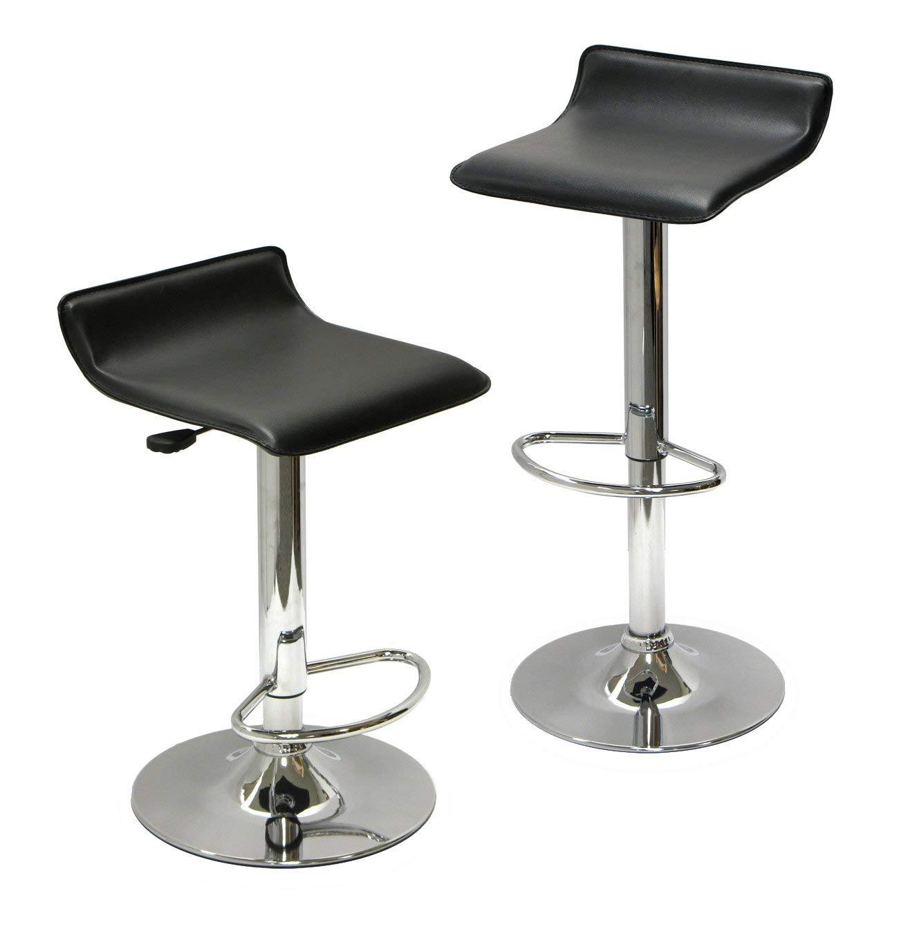 adjustable bar stool amazon.com: winsome wood airlift adjustable stool, set of 2: kitchen & KHLALEM
