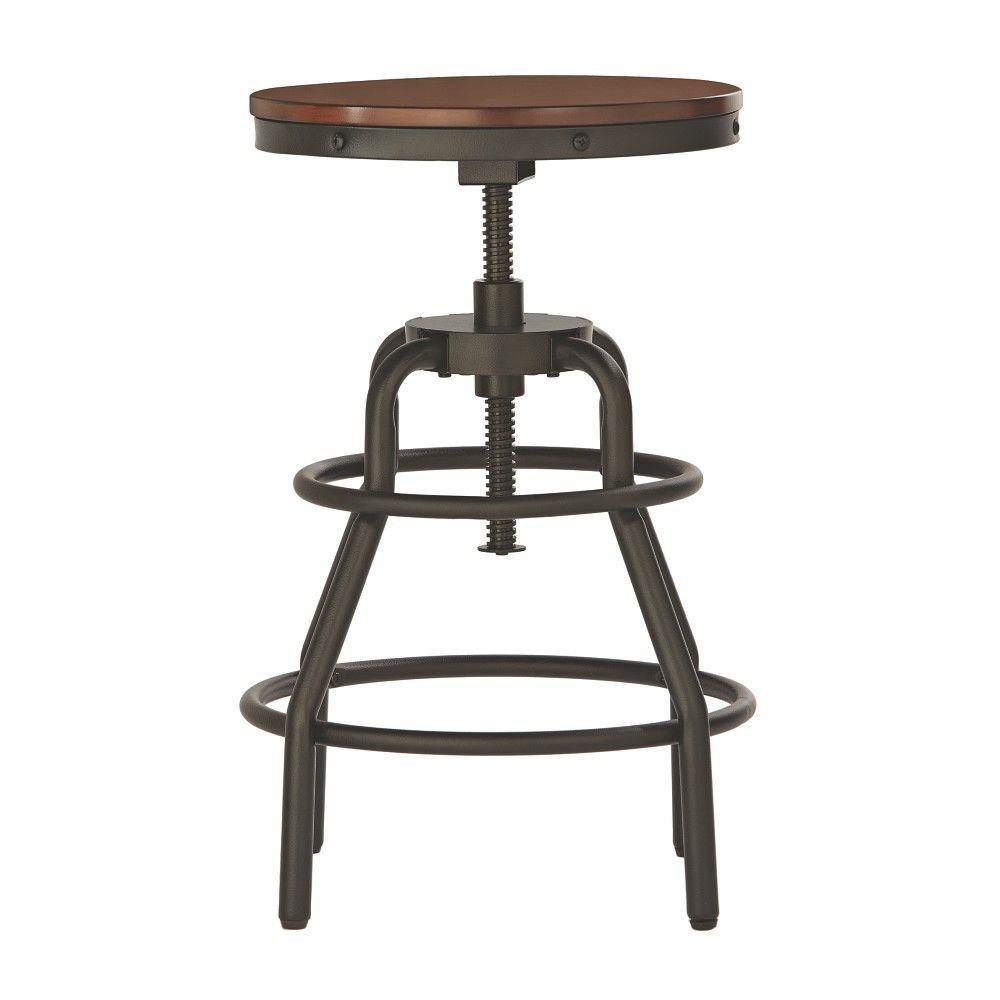adjustable bar stool home decor collection industrial mansard height adjustable black bar stool BXGWROY