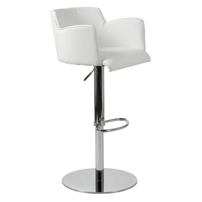adjustable bar stools with backrest and armrests 35 stylish modern adjustable white leather bar stools XRQSUIQ